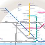 Lisbon Metro Subway Underground Map PDF