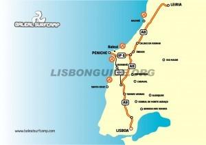 West_Lisbon_Map_Coast_Nazare_Obidos