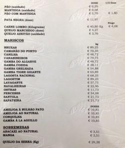 Ramiro_Restaurant_Lisbon_Menu