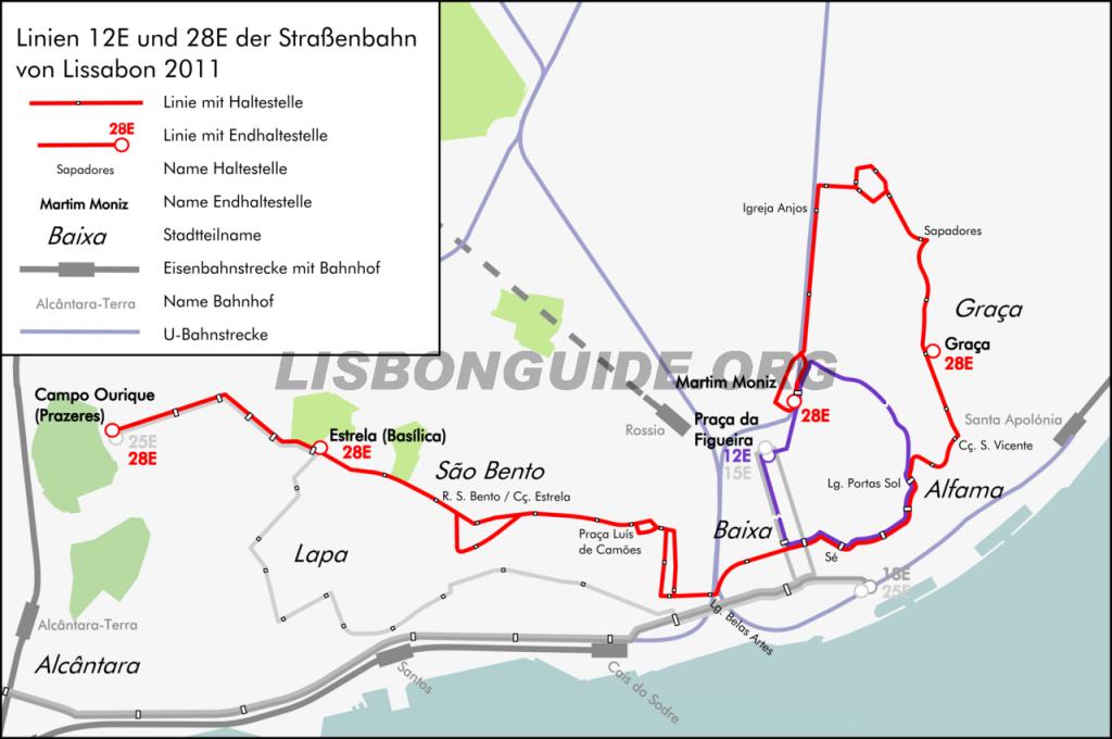 Lisbon_Tram_28_Map