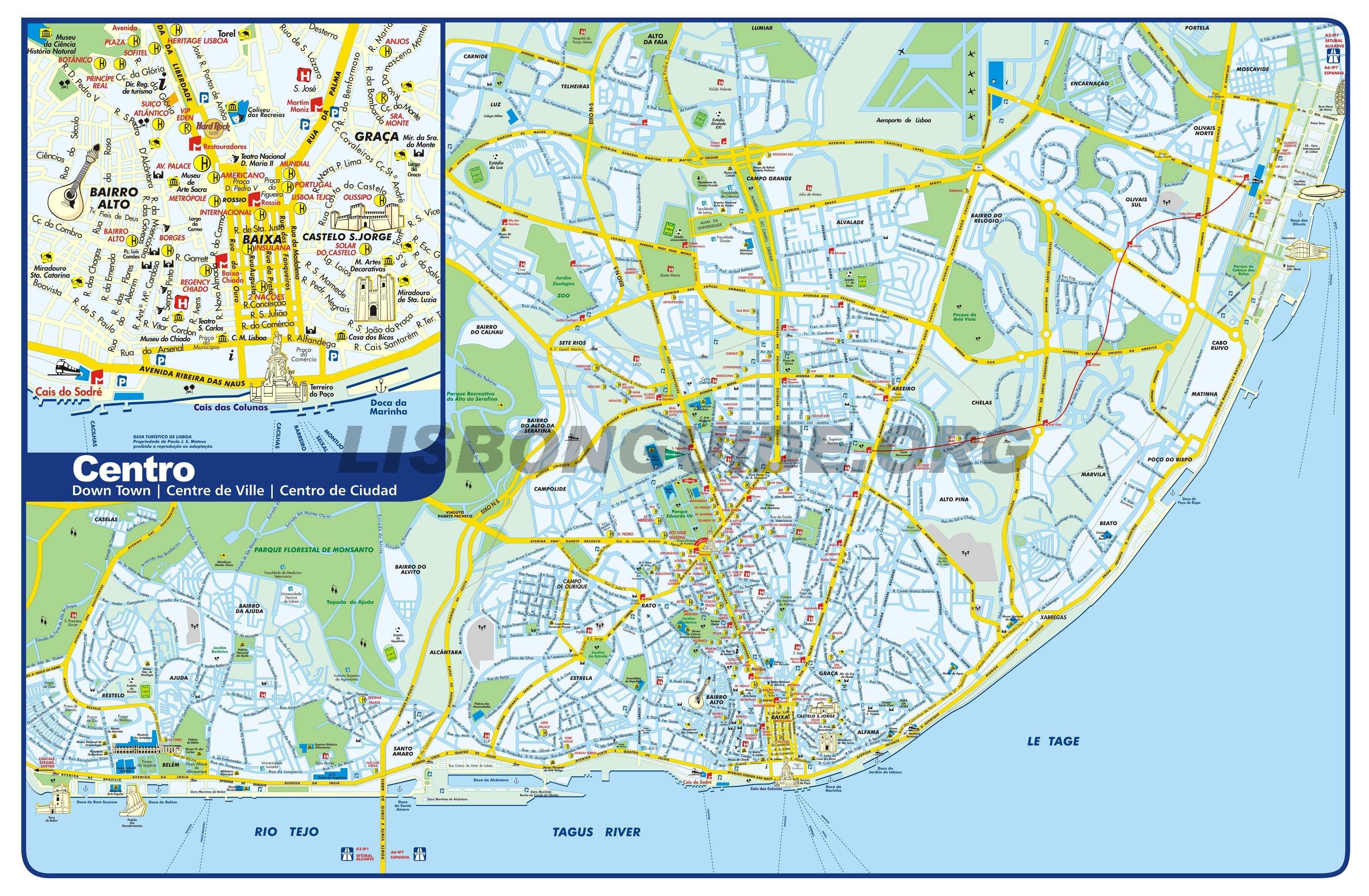 Mapa Turistico Lisboa Pdf.Mapa Gratuito De Lisboa 2020 Actualizado La Mejor Guia